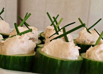 Smoked Salmon Cucumber Boats
