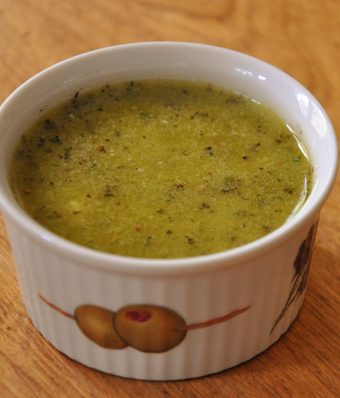 Easy salad dressing in a small bowl