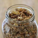 homemade granola in a mason jar