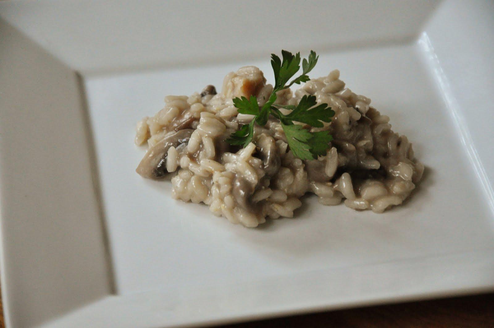 chicken mushroom risotto