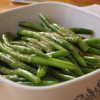 green beans and vinagrette