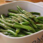 green beans and vinagrette
