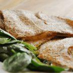 spinach and mushroom quesedilla