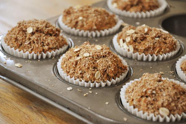 whole wheat bran breakfast muffins