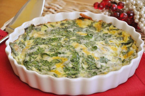 ... meatless meal from our brunch menu – Crustless Spinach Quiche