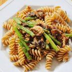 mushroom and green bean pasta