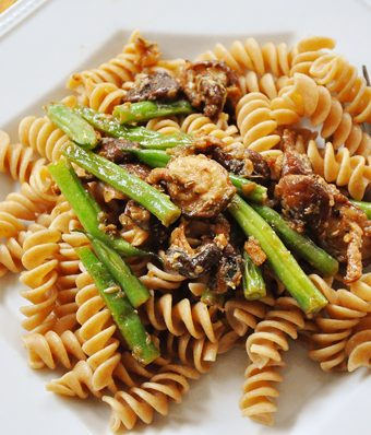 Mushroom and Green Bean Pasta