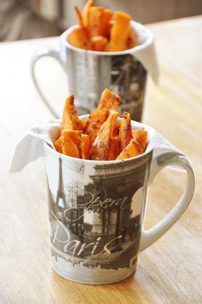 baked spicy sweet potato fries
