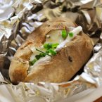 baked potato on the bbq