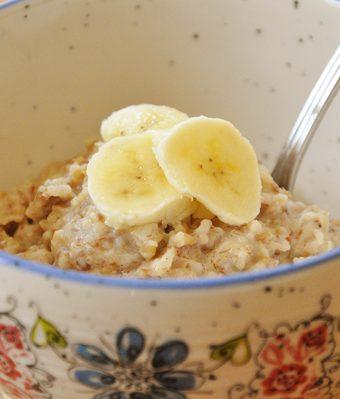 banana steel cut oats