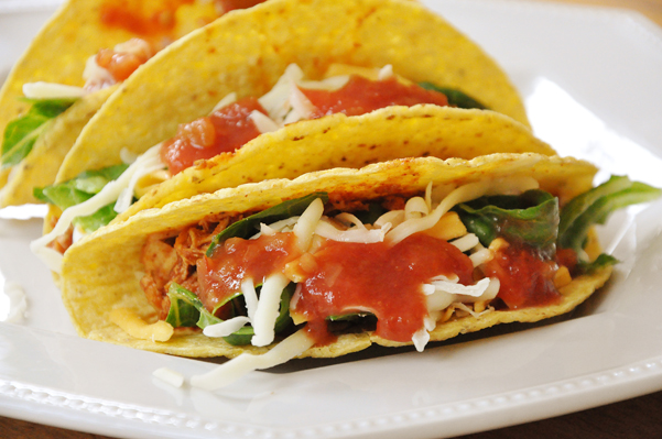 Shredded Chicken Tacos are a 15-minute meal perfect for weekdays!