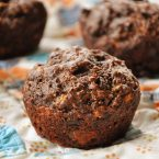 whole wheat banana chocolate muffins
