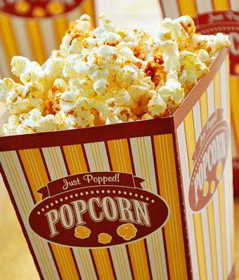spicy flavoured popcorn