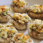stuffed mushrooms with zucchini and shrimp