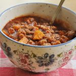 Slow Cooker Chili with Sweet Potatoes