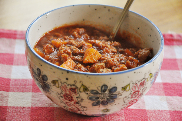 Chili with Sweet Potatoes