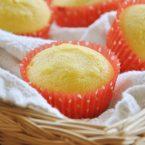 Corn muffins in a wicker basket
