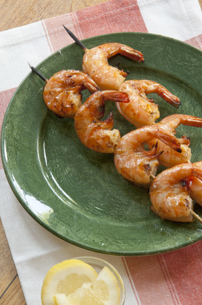 ... grilled shrimp skewers. The ultimate quick recipe for the summer
