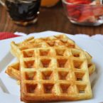 Gluten Free Belgian Waffles are fluffy and sweet just like normal waffles and are the perfect gluten-free brunch recipe to make for guests.   livinglou.com