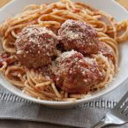 The best meatballs and a plate of spaghetti