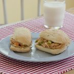 chipotle chicken salad sandwiches on a plate