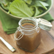 balsamic vinaigrette with a spinach salad