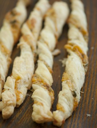closeup of jalapeno cheddar breadsticks