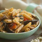 vegan pasta salad with grilled vegetables