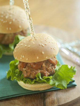 Barbecue Turkey Meatball Sliders