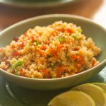 quinoa salad with sriracha dressing