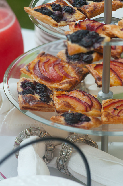 plum and blueberry tarts