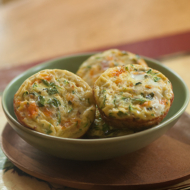 zucchini basil mini crustless quiche