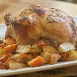 Apple Cider Roasted Chicken with Seasonal Veggies