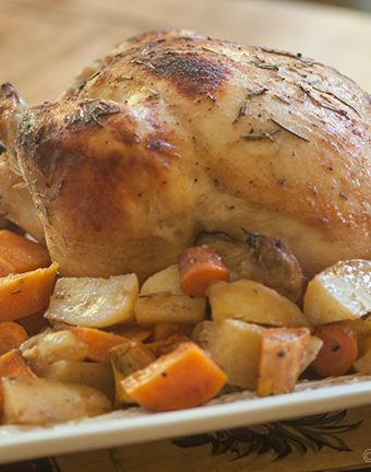 Apple Cider Roasted Chicken