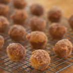 Mini Pumpkin Donut Muffins on a drying wrack
