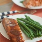 Asian-style barbecue roasted salmon