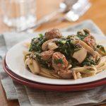 Sausage, Mushroom & Swiss Chard Pasta