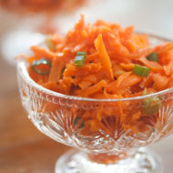 Carrot Ginger Slaw is the perfect simple side salad or topping for fish tacos. | livinglou.com