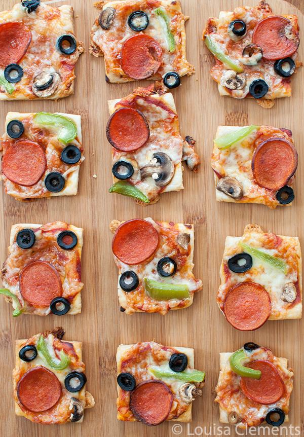 puff pastry pizza bites
