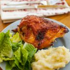 From Scratch Oven Baked Barbecue Chicken