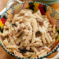 Mushroom and Bacon Pasta