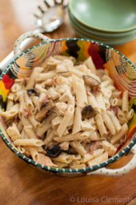 Chicken, Mushroom and Bacon Pasta
