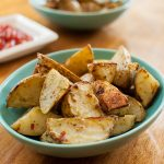 Spicy Pesto Roasted Potatoes
