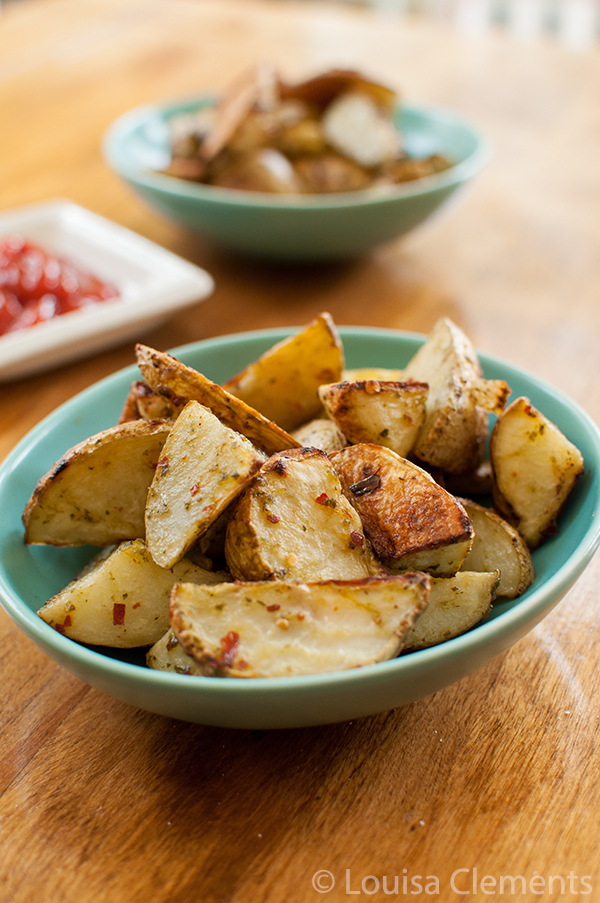 Spicy Pesto Roasted Potatoes