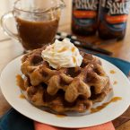 Beer Battered Bacon Waffles