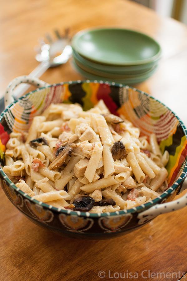 Chicken, Mushroom and Bacon Pasta — Living Lou