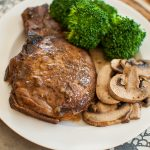 Balsamic and Sage Glazed Pork Chops