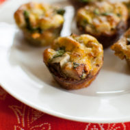 Mini Pesto Potato Spinach Frittata
