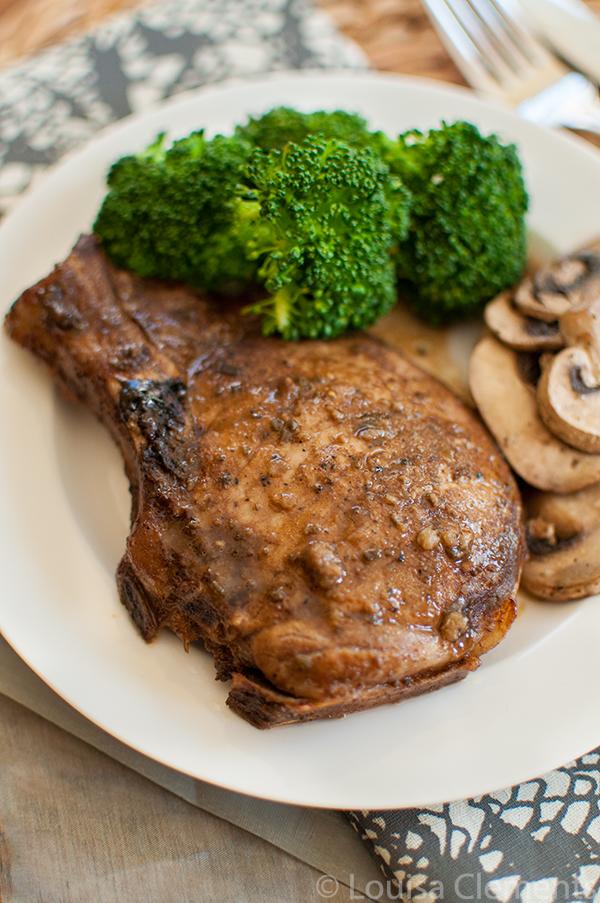 Sage and Balsamic Glazed Pork Chops