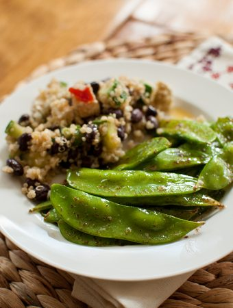 brown butter snow peas